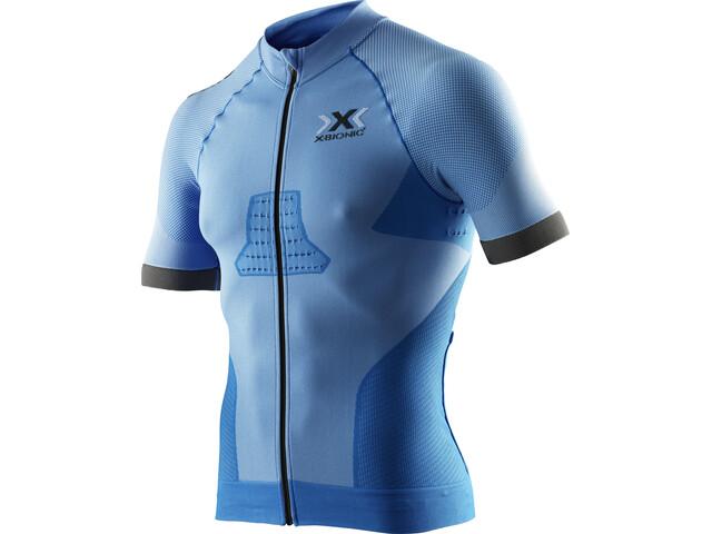 X-Bionic Race EVO Biking Shirt SS Herren marina blue/anthracite